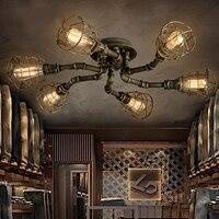 Американский стиль ретро промышленные Лофт потолочный светильник творческая личность железа водопроводов ресторан бар гостиная потолочн