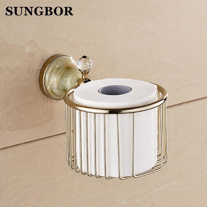 ФОТО European paper towel basket Golden toilet paper basket bathroom golden copper tissue boxes porcelain bathroom hand carton paper