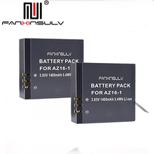 2 x AZ16 1 Battery AZ16-1 + 2 x battery box For Xiaomi Yi 2 4K Battery Yi 4K+ Yi 360 VR Original Xiao Mi Yi Lite Action Cameras все цены