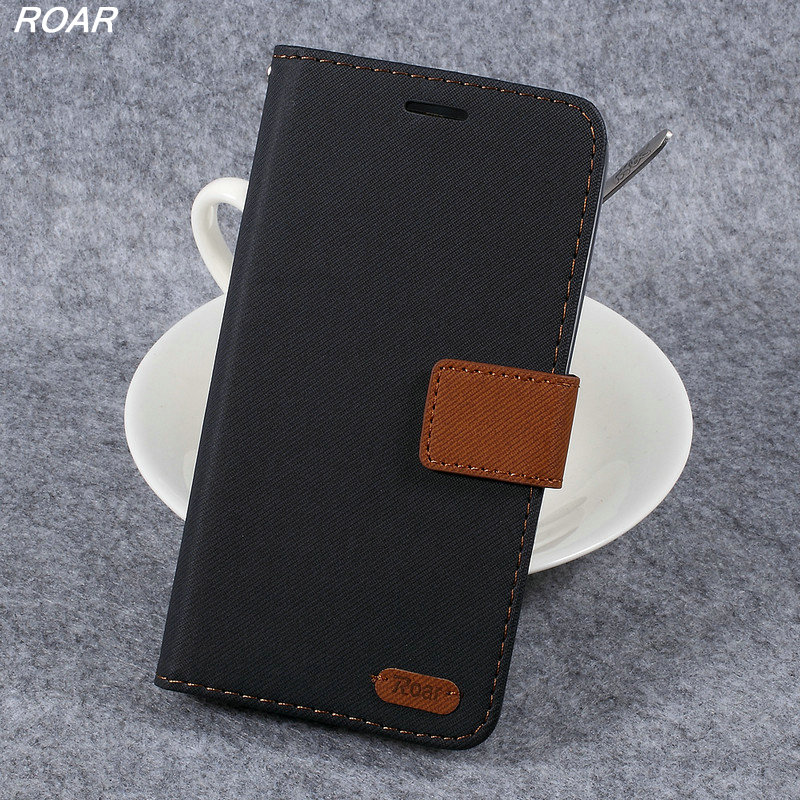 For Asus ZB551KL Case ROAR KOREA Twill Grain Card Holder Leather Stand Flip Cover Case For Asus Zenfone Go / Go TV ZB551KL