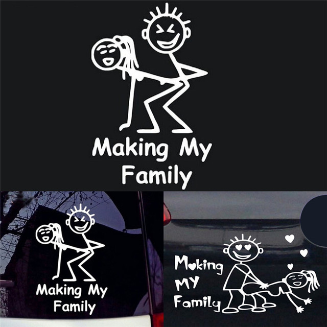 Waterproof car sticker making my family auto decal graphics stickers decals