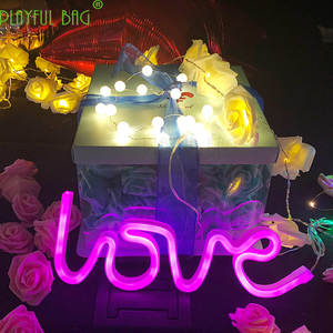 Proposal-Props with Alphanumeric-Lights LOVE Novelty Eye-Protection-Product Couples's-Lights