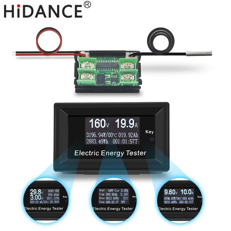 DC 150 V/3KW 20A amperímetro voltímetro digital wattmeter metros detector de tensão de alimentação de corrente volts indicador tester capacidade