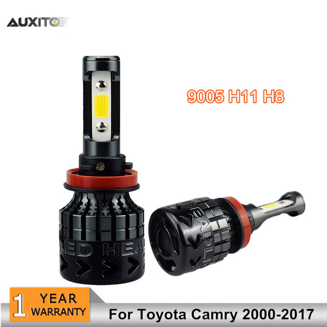 2x 9005 H11 H8 Cob Led Car Headlights Bulb Fog Lamp 8000lm High Low Beam Replace Halogen Headlamp For Toyota Camry 2000 2017