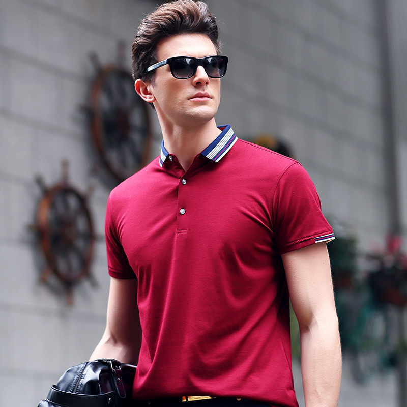 SHANBAO high quality cotton elegant simple solid color short-sleeved   Polo   shirt 2019 summer new style men's fashion   Polo   shirt