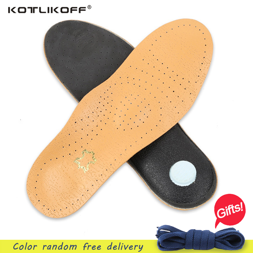 KOTLIKOFF New Style Leather Arch Support Insole For Flat Feet Orthotic Insole flat foot correct feet care orthopedic insert shoe arch support insole for x legs child orthopedic shoes foot care 3d orthotic insoles flat feet for kids and children shoe insert