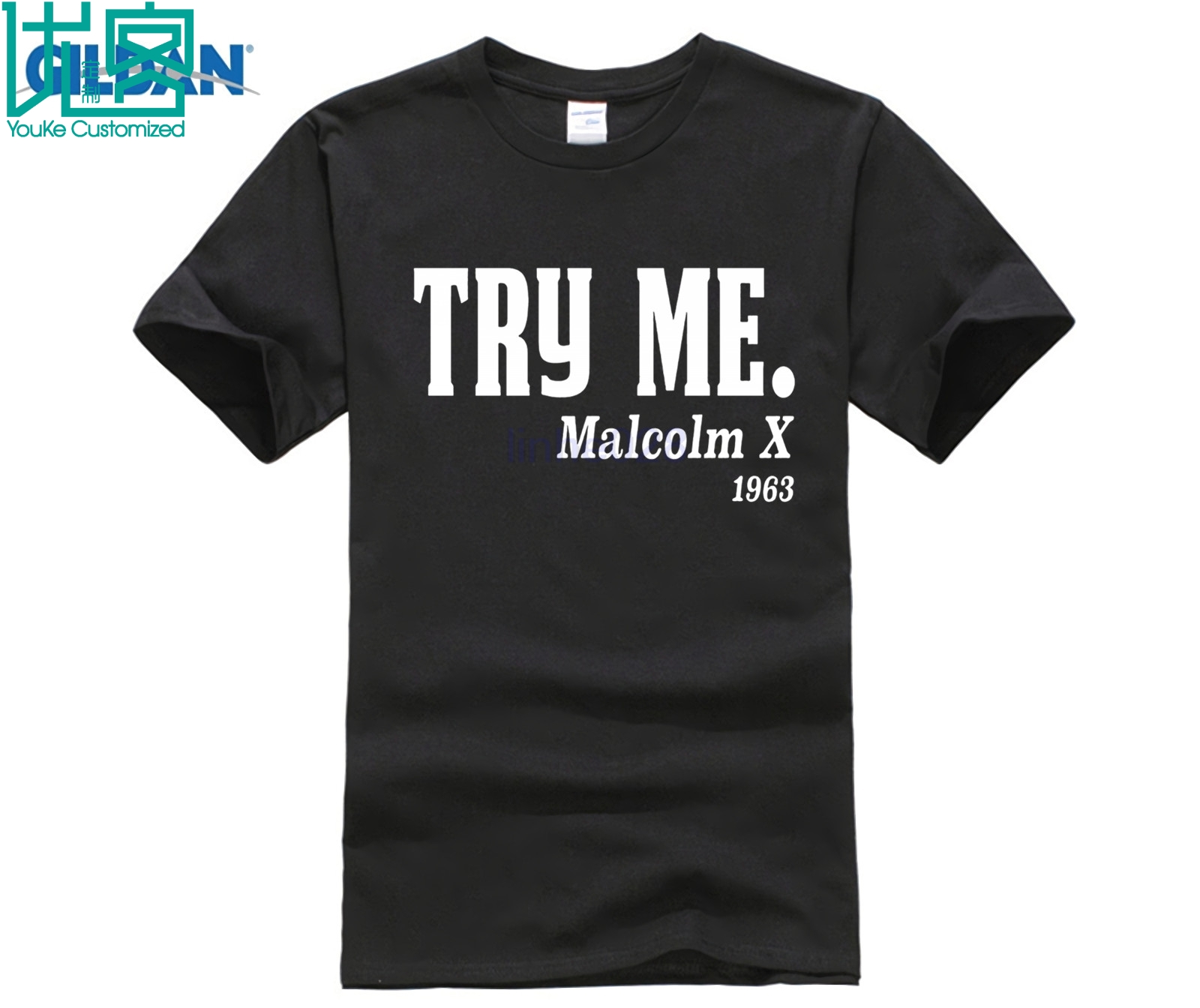 <font><b>Malcolm</b></font> <font><b>X</b></font> Black History Black Lives Matter Black Mens <font><b>T</b></font> <font><b>Shirt</b></font> Print Spring Round Neck Tshirt Men Cotton Topic image