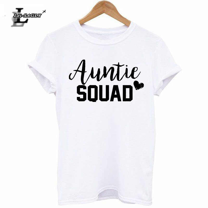 b30c84c1a Lei-SAGLY Aunt Gift Tumblr Funny T-Shirt Fashion Graphic Tops Auntie Squad T