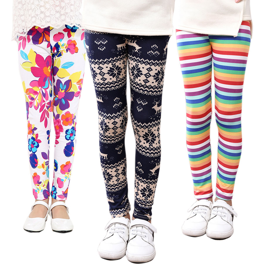 SheeCute girls leggings Kids printing pants children knitted Spring Autumn leggings 21 colors 2-13Y SCA001 spring autumn girls butterfly flower print leggings kids children slim pants