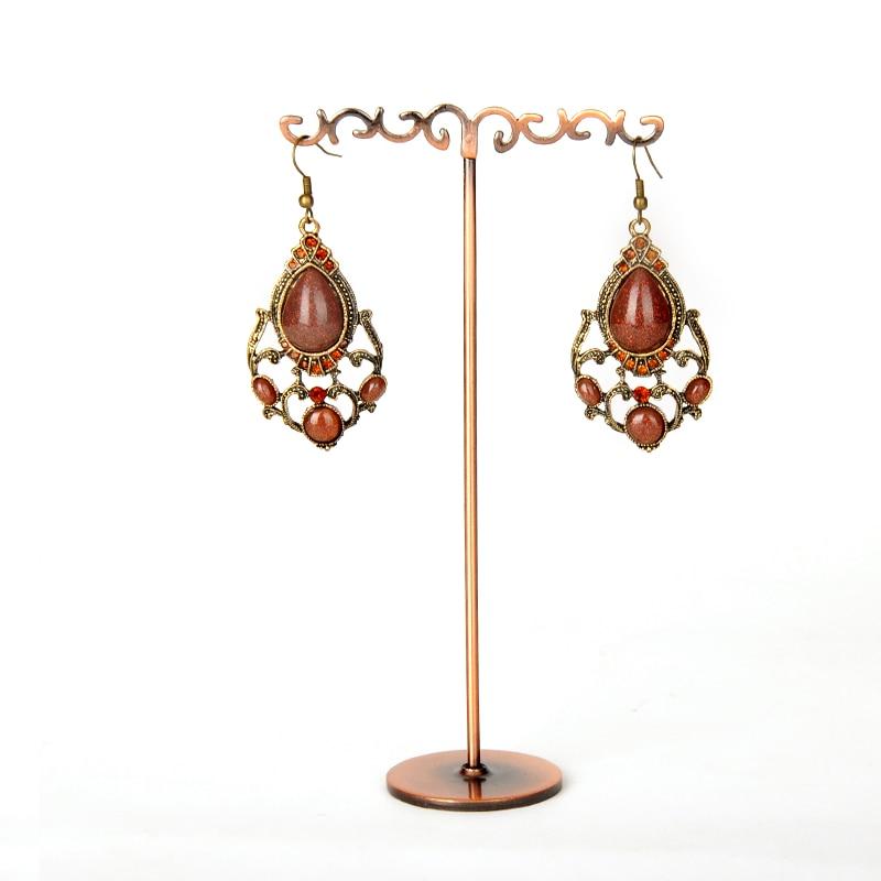 Metal Earring Display Stands Copper Earrings Stand Flower T Shape Drop 34