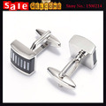 Silver Plated Striped Chunky Statement Luxury Paint Cuff Link for Man Gift  Shell 3D Enamel Business Formal Glaze Black Cufflink