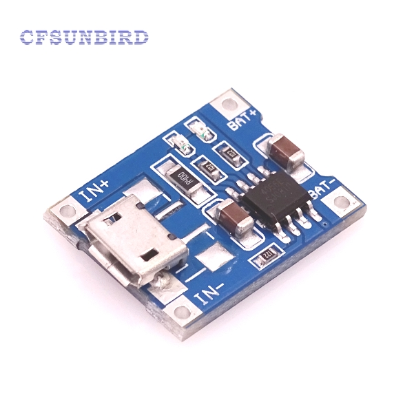 CFsunbird 5pcs/lot TP4056 1A Lipo Battery Charging Board Charger Module lithium battery DIY MICRO Port Mike USB New Arrival 18650 lithium battery 5v micro usb 1a charging board with protection charger module for arduino diy kit
