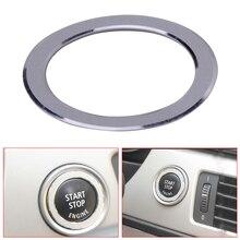 DWCX Автомобильный ключ запуска двигателя зажигания кнопки крышка отделка кольцо украшения, пригодный для BMW 3 серии E90 2009 2010 2011 2012