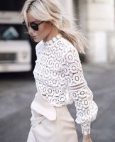 2016 New Arrive Flower Lace Top Hollow Fashion Women Street Beat