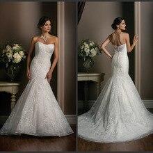 Lace Appliques Gown Bride Dresses Sleeveless Wedding Dress
