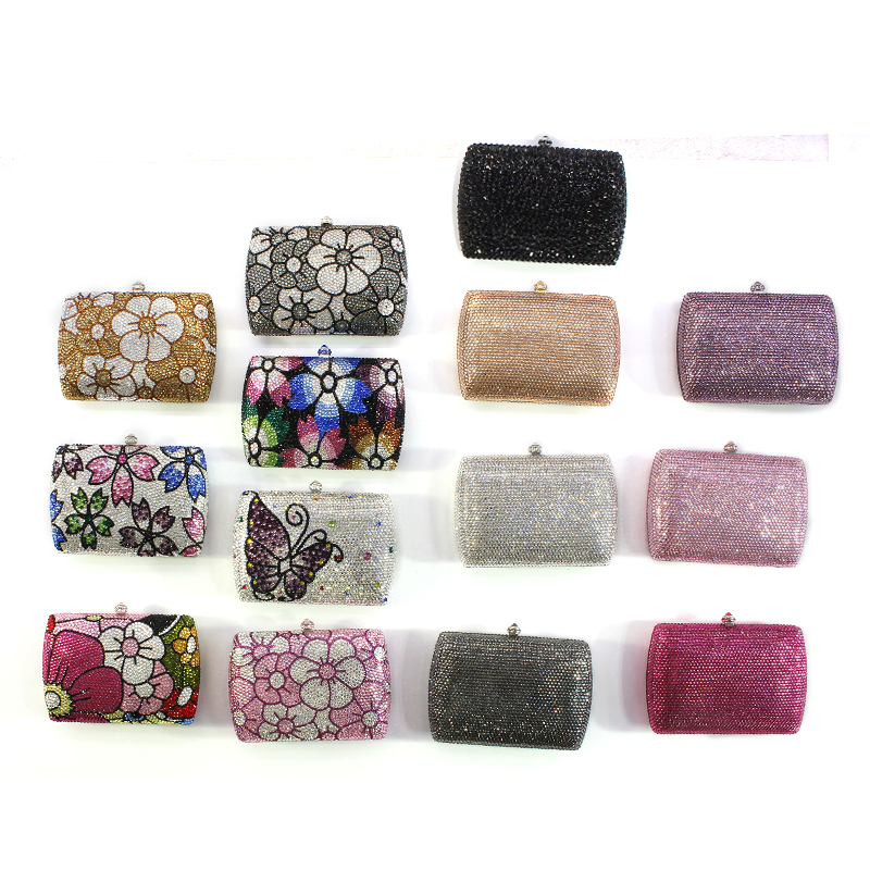 Brand Women Evening Bags Ladies Crystal Wedding Clutch Bag River Royal Party Clutches(1 (10)) luxury crystal clutch handbag women evening bag wedding party purses banquet