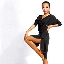 Latin Dance Dress 2018 New Sexy Samba Dance Costumes Adult Female Practice Dance Dress Ballroom Loose Free Size Clothes DN1496