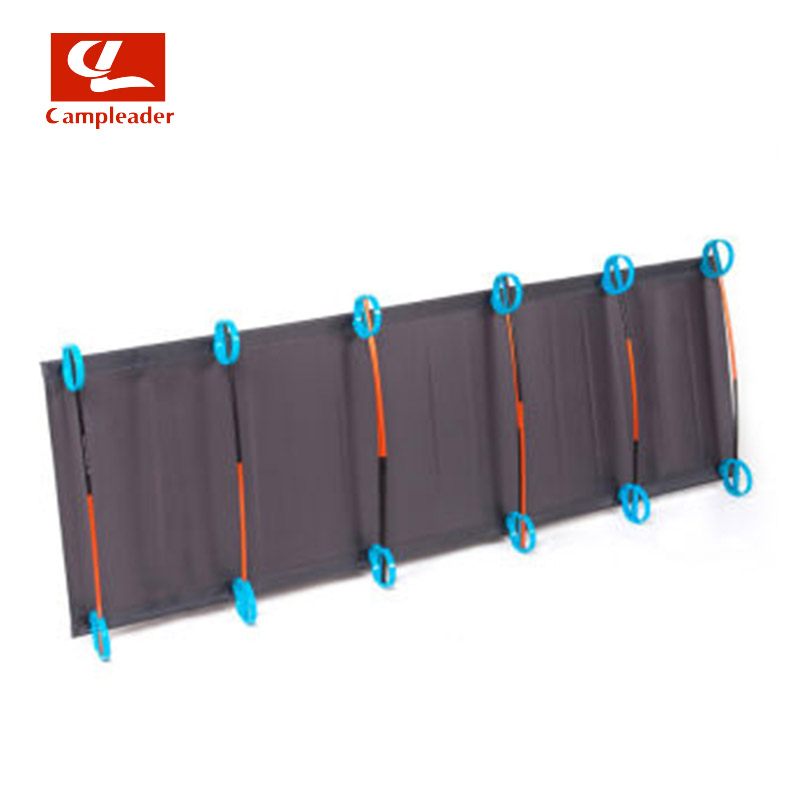 Camping mat ultralight Sturdy Comfortable Portable Single Folding Camping Bed Cot Sleeping Bed With Aluminium Frame CL043