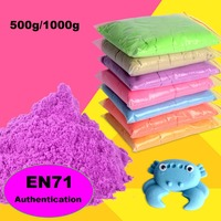 Hot Sale High Quality 500g 1000g Dynamic Magic Sand Amazing DIY Educational Toys No Mess Indoor