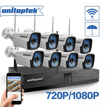 Unitoptek 4CH 8CH Wireless NVR Home Security Cam System 720P 1080P HD CCTV Video Surveillance NVR Kit 2.0MP Wifi Outdoor Cam Set - DISCOUNT ITEM  25% OFF All Category