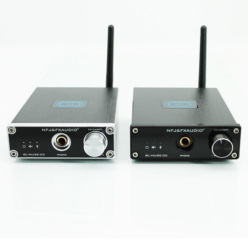 Купить с кэшбэком 2019 New FX-Audio BL-MUSE-03 Bluetooth@4.2 CSR Audio Receiver DAC Decoding Lossless HiFi Sound Quality+Headphone Amplifier Out