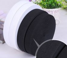 12MM White/Black Colored Soft Knit Braided Elastic Webbing Band For Sewing Garment Accessories 144yards