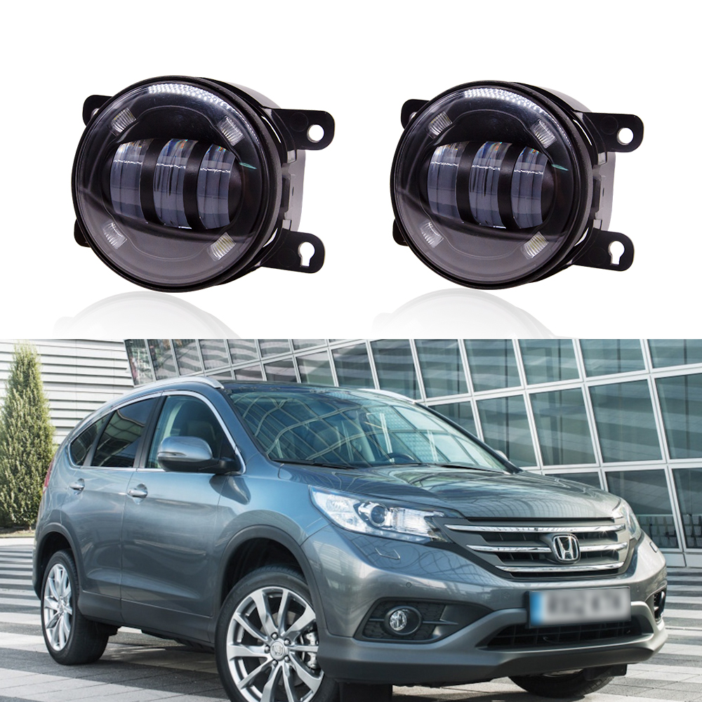 For Ford/ Honda CRV Fit/ Subaru/ Renualt/Suzuki Swift Car LED Bi xenon Fog Lights Projector Lens Driving Lamps Retrofit DIY H11
