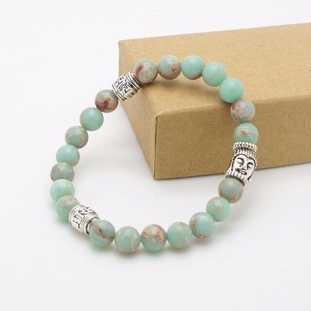 Bracelet Amazonite Bouddha