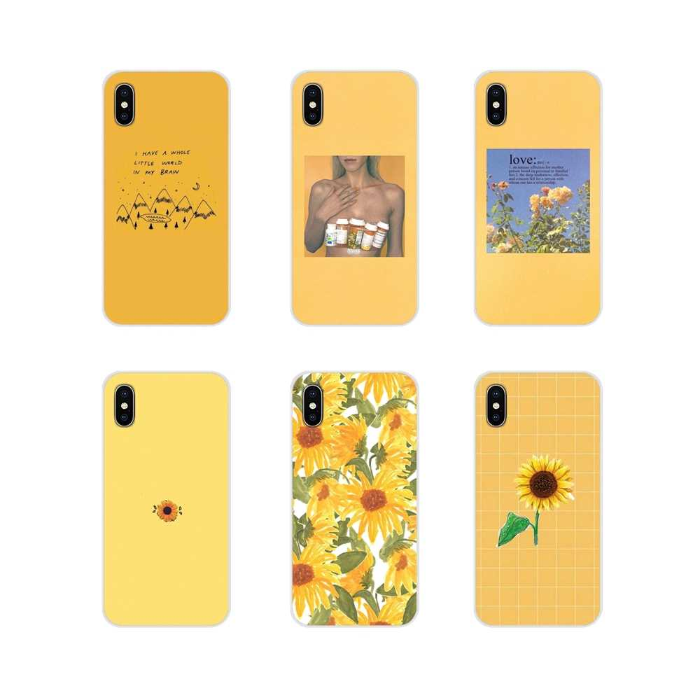 Accessories Case Cover For Huawei P8 9 Lite Nova 2i 3i GR3 Y6 Pro Y7 Y8 Y9 Prime 2017 2018 2019 Hippie Aesthetics yellow Pattern