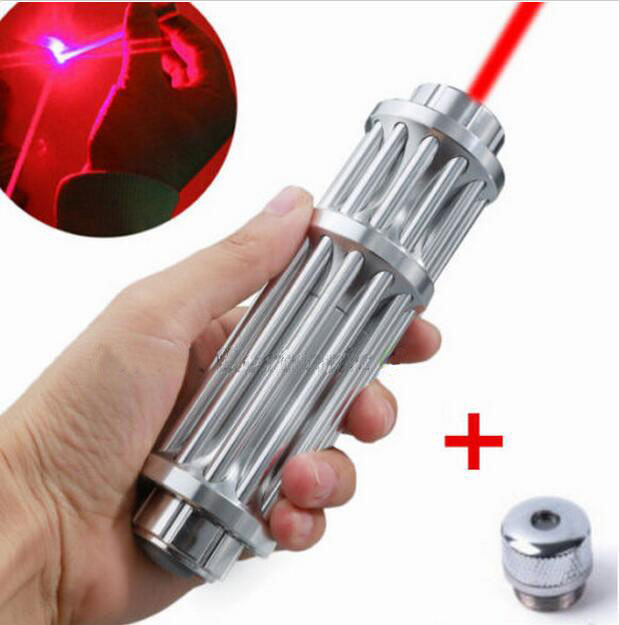 10000mw 650nm RED Laser Pointer Light Lazer Beam camping signal lamp High Power focus burn match lit cigarettes+5caps charger