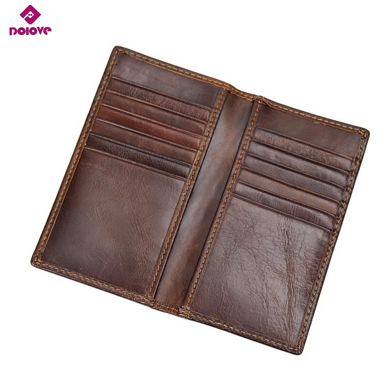 DOLOVE RFID Blocking Leather Wallet Men's Genuine Leather Short Dollars Wallets Quality Guarantee D-7360