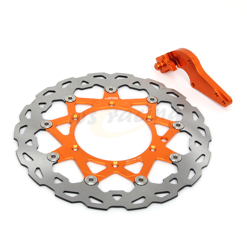 CNC 320MM Motorcycle Front Floating Brake Disc & Bracket For KTM SXS450F XC450 XCW450 XCG450 XCF450 SX500 MX500 XCF505 EXC520 motorcycle cnc front