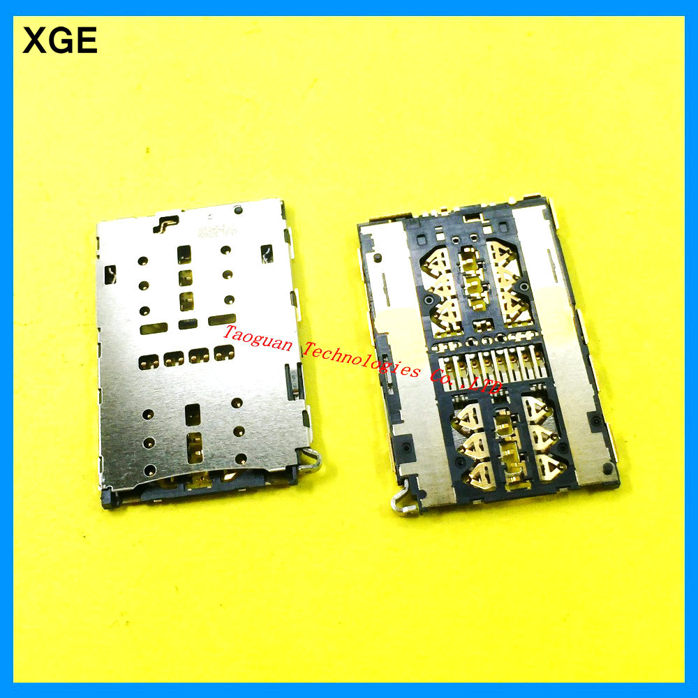 2pcs/lot XGE new SIM Card Socket Slot Reader Holder for ZTE A2015 Axon S291 S521Grand S II LTE B2015 top quality