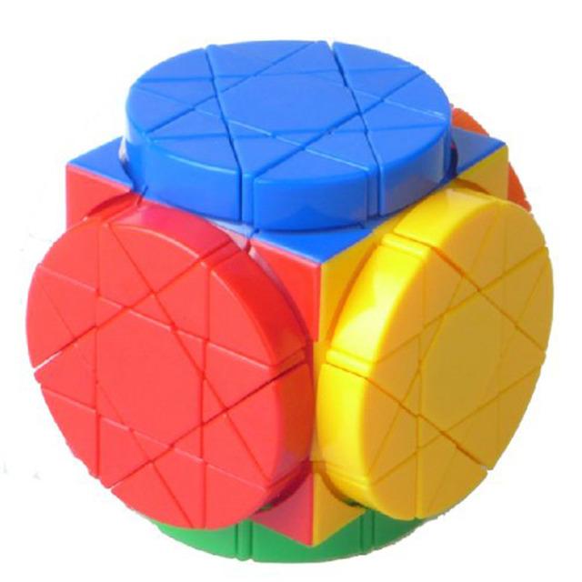 Rueda de Plástico Sabiduría Rompecabezas Velocidad Dayan Cubo Mágico Stickerless Twisty Speed Puzzle cubo mágico Juguetes Educativos Para Niños