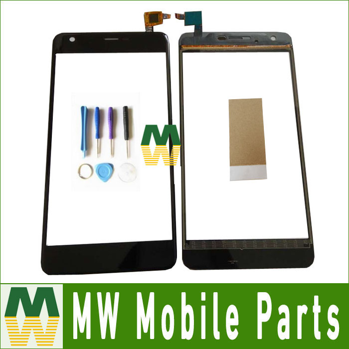 1PCS/ Lot For Highscreen Easy XL For Highscreen easy xl pro Touch Glass Touch Screen Digitizer Black Color with tools+tape