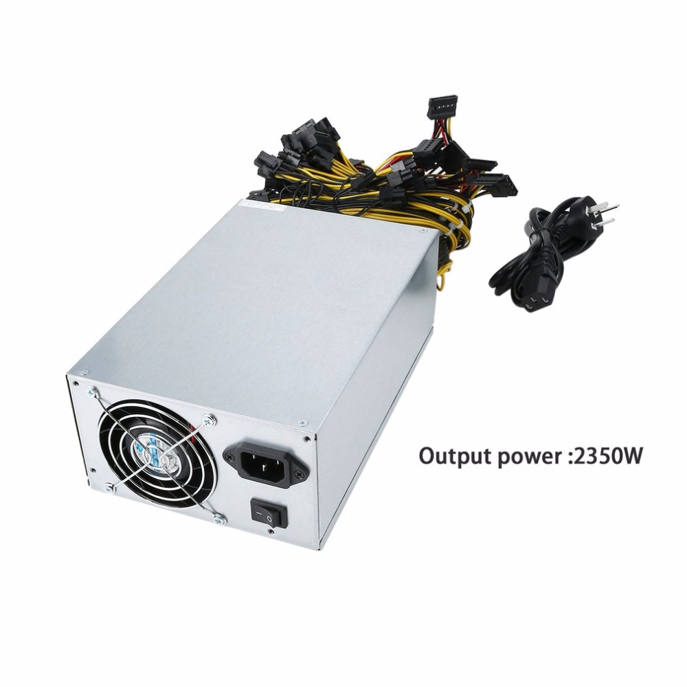 2350W High Efficient Power Supply For Eth Rig Ethereum Coin Mining Miner Dedicated Machine With Low