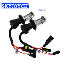 SKYJOYCE High Quality 35W 55W H4-3 Hi/Lo HID Xenon Bulb H13 9007 H4 Bi-Xenon 4300K 5000K 6000K 8000K 10000K Car Headlight Bulb(China)