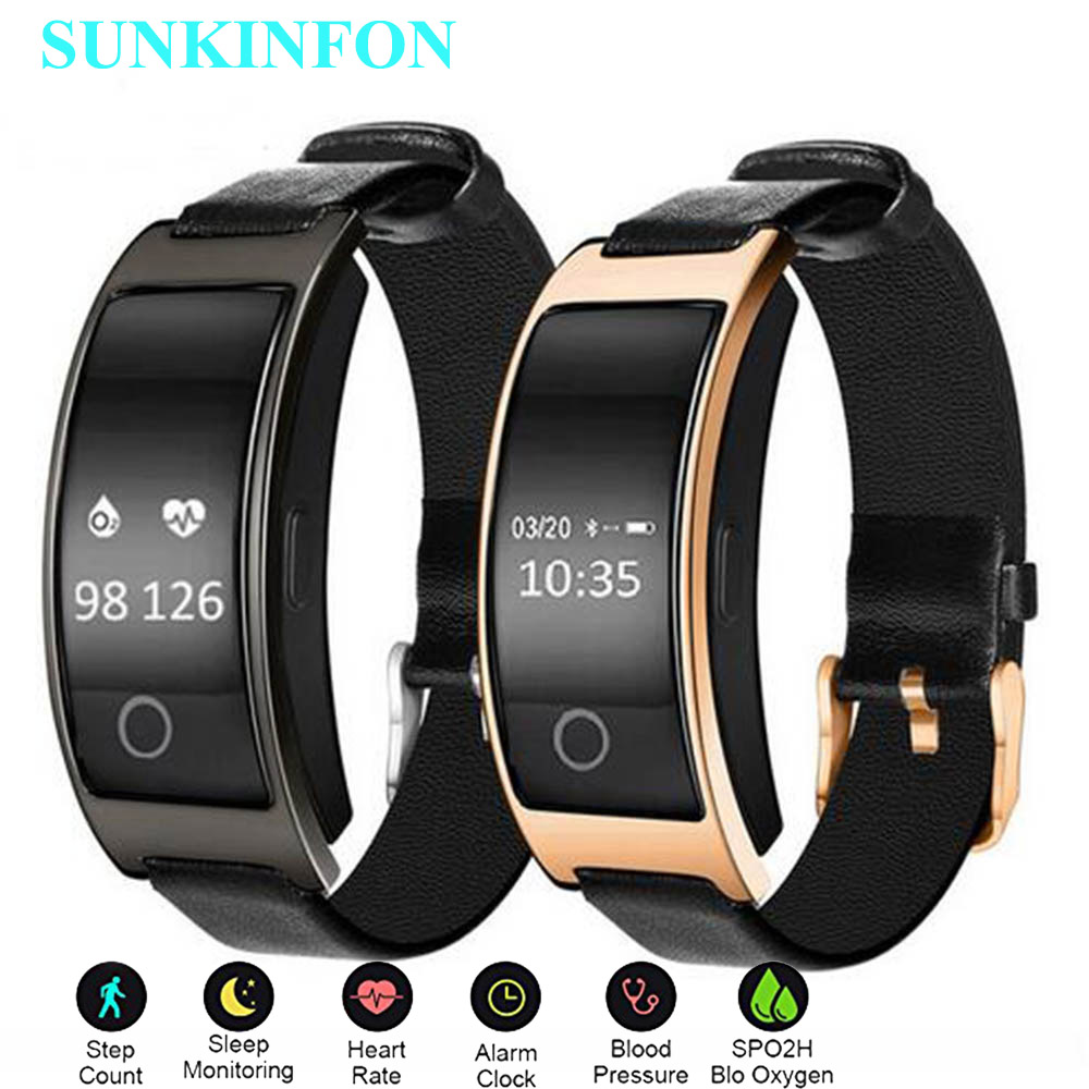 Waterproof Smart Wristband Blood Pressure Oxygen Pedometer Heart Rate Monitor Bracelet for Huawei Ascend P8 Lite / Mate S 9 8 7