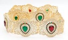 Fashion Women Broadside Resin Flower Belly Chains Belt
