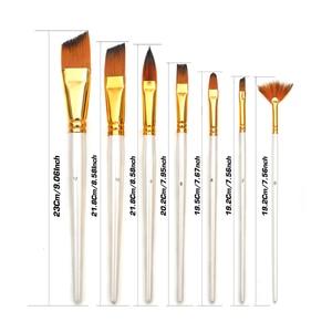 Image 4 - Pintura conjunto de arte 15 pçs escova de pintura de cabelo de náilon & transportando preto caso paleta faca e esponja para desenho a óleo acrílico aquarelas