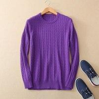 Kashana зимний свитер Для мужчин 100% из чистого кашемира вязаное изделие Для мужчин пуловер свитер с круглым вырезом одежда с длинным рукавом св