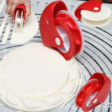 Pastry Dough Lattice Cutter Pizza Pie Decoration Gadget Plastic Roller Wheel Crust Noodle Roll Fancy Knife Baking