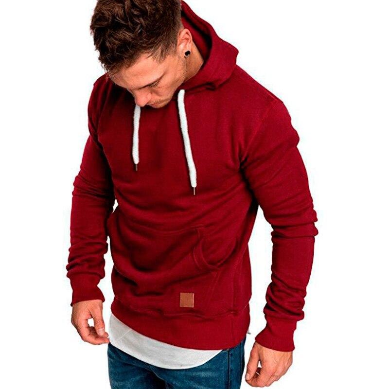 COCEDDBsweatshirt Men 2018 Hoodies Brand Male Long Sleeve Solid Hoodie Men Black Red Big Size Poleron Hombre