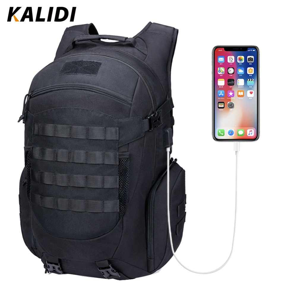KALIDI Backpack Men Army Tactical Daybag Limbing Outdoor Bag Waterproof Laptop Backpack Hiking Camping Hunting Travel Backpacks