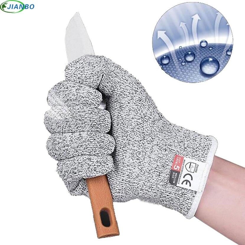 Luvas de aço inoxidável resistentes à facada da prova do corte da segurança das luvas anti-corte da segurança da soldadura do metal do fio da cozinha