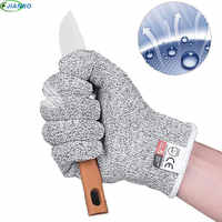 Anti-cut Gloves Safety Cut Proof Stab Resistant Stainless Steel Wire Metal Welding Kitchen Butcher Cut-Resistant Safety Gloves