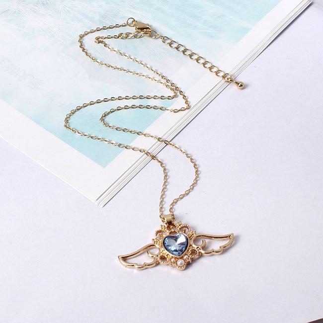 Kawaii Sailor Moon Crystal Heart & Wings Necklace 5
