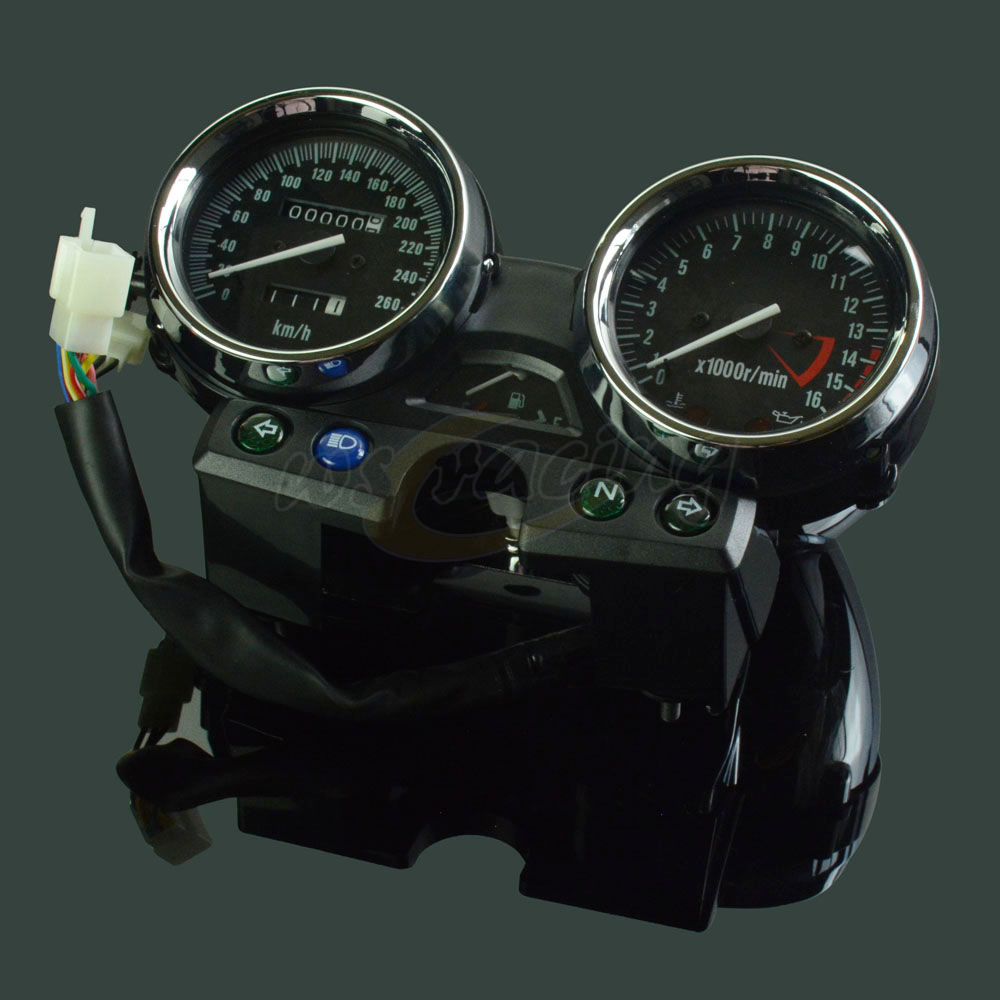 Motorcycle Instrument Panel : Motorcycle oem tachometer odometer instrument