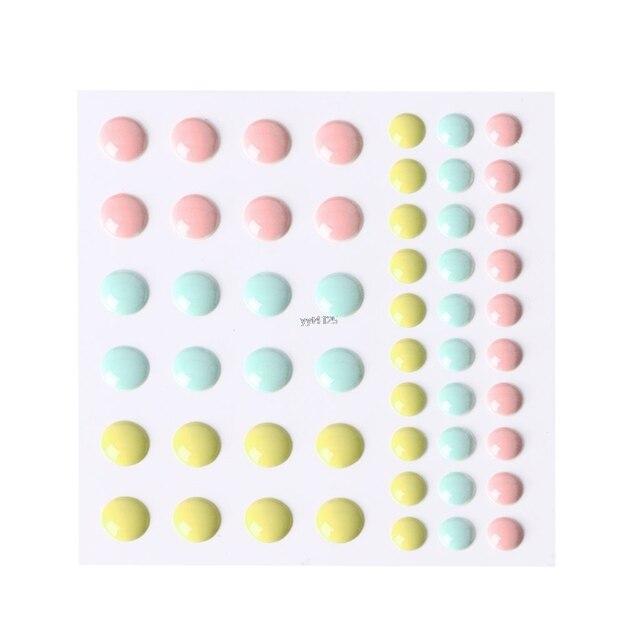 OOTDTY nueva llegada 1 Pc esmalte puntos resina autoadhesivo pegatina para Scrapbooking DIY artesanías pegajosas