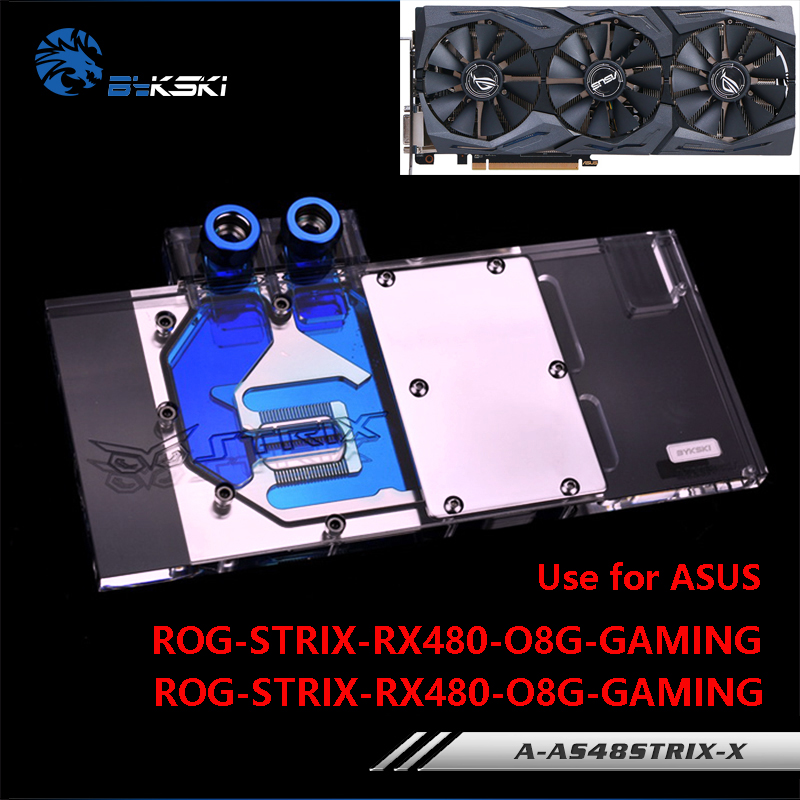 все цены на BYKSKI Water Block use for ASUS ROG STRIX-RX480-O8G-GAMING/ RX470-4G-GAMING Video Card Full Cover Graphics Card Copper Block RGB онлайн